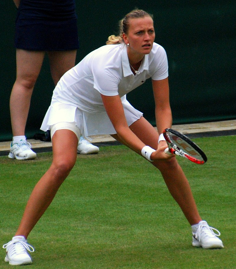 """Petra Kvitova Wimbledon 2014 (cropped 1)"" by Carine06 from UK - Petra Kvitova. Licensed under CC BY-SA 2.0 via Wikimedia Commons - https://commons.wikimedia.org/wiki/File:Petra_Kvitova_Wimbledon_2014_(cropped_1).jpg#/media/File:Petra_Kvitova_Wimbledon_2014_(cropped_1).jpg"