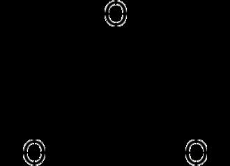 Benzenetriol - Image: Phloroglucinol structure