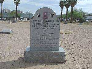 Phillip Darrell Duppa - Image: Phoenix Pioneer Military and Memorial Park 1850 Phillip Darrell Duppa