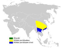Phylloscopus subaffinis distribution map.png