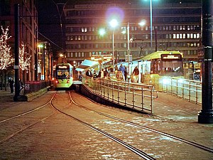 Piccadilly Gardens tram stop - Image: Piccadilly Gardens Tram Station, David Dixon, 3795002