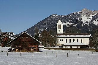 Lenk im Simmental - Village church in Lenk