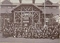 Pierre and Joseph Cuypers with the entire staff of Kunstwerkplaatsen Cuypers & Co. visiting Ant. Peters Holzgrosshandlung Düsseldorf Cuypershuis 0667.jpg