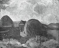 Piet Mondriaan - Farm sheds and haystacks in the dunes - A163 - Piet Mondrian, catalogue raisonné.jpg