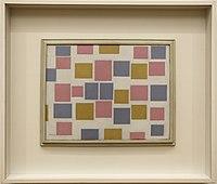 Piet mondrian, composizione n. 3 con colori piatti, 1917.jpg