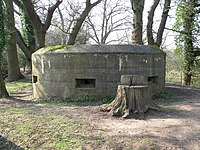 Pill box overlooking the River Wey