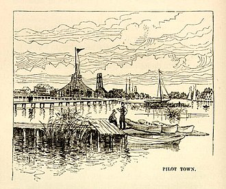 Pilottown, Louisiana - Pilot Town in the 1880s