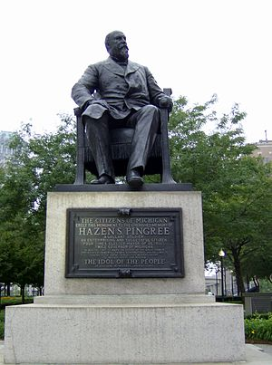 Hazen S. Pingree - Statue of Pingree in Grand Circus Park, Detroit.