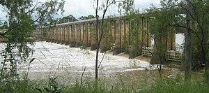 Barrage (dam) - A barrage in Rockhampton, Australia