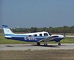 Piper PA-32R-301 Saratoga II HP G-BYPU at Portimão Airport 17-8-2014.jpg