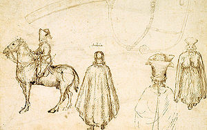 Council of Florence - Sketches by Pisanello of the Byzantine delegation at the Council