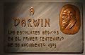 Placa de marbre en homenatge a Darwin, palau de Cerveró de València.JPG