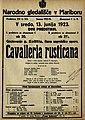 Plakat za predstavo Cavalleria Rusticana v Narodnem gledališču v Mariboru 13. junija 1923.jpg