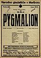 Plakat za predstavo Pygmalion v Narodnem gledališču v Mariboru 20. novembra 1927.jpg