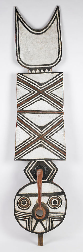Bwa people - Plank mask with abstract design of geometric patterns, all of which are symbolic. Birmingham Museum of Art.
