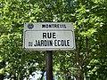 Plaque rue Jardin École Montreuil Seine St Denis 1.jpg