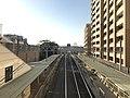 Platform from overpass of Maiko-Koen Station.jpg