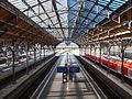 Platforms 6 and 7 at Lübeck Hauptbahnhof September 2015.jpg