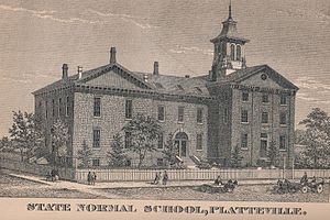 University of Wisconsin–Platteville - An Illustration of the Platteville Normal School, from the 1885 edition of the Wisconsin Blue Book.