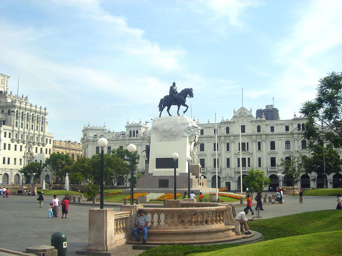 Plaza san mart n lima wikipedia la enciclopedia libre for Oficina de extranjeria avenida de los poblados