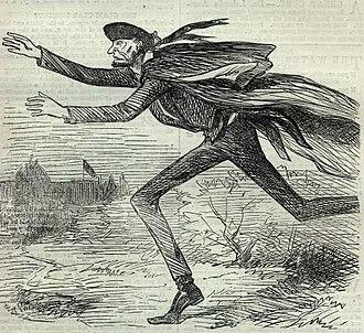 "Baltimore Plot - ""Flight of Abraham"", Harper's Weekly, March 9, 1861."