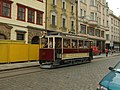 Plzeň, Náměstí Republiky, Křižíkova tramvaj.JPG