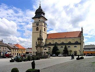 Počátky - Image: Počátky, church