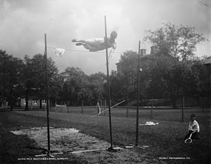 Pole vault - Pole vault in the 1890s at US Naval Academy