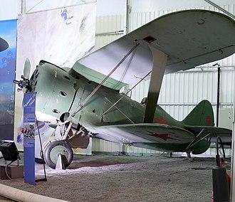 Polikarpov I-153 - Polikarpov I-153 at the Museum of Air and Space Paris