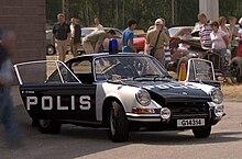 Una Porsche 911 in dotazione alla polizia svedese