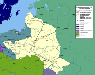 Polish–Russian War of 1792 war between the Commonwealth of Poland and the Russian Empire