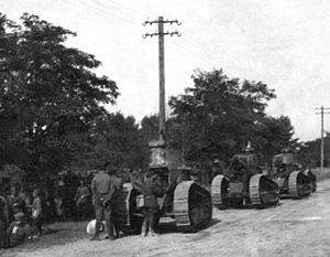 Kiev Offensive (1920) - Image: Polish FT 17 tanks near Lwów