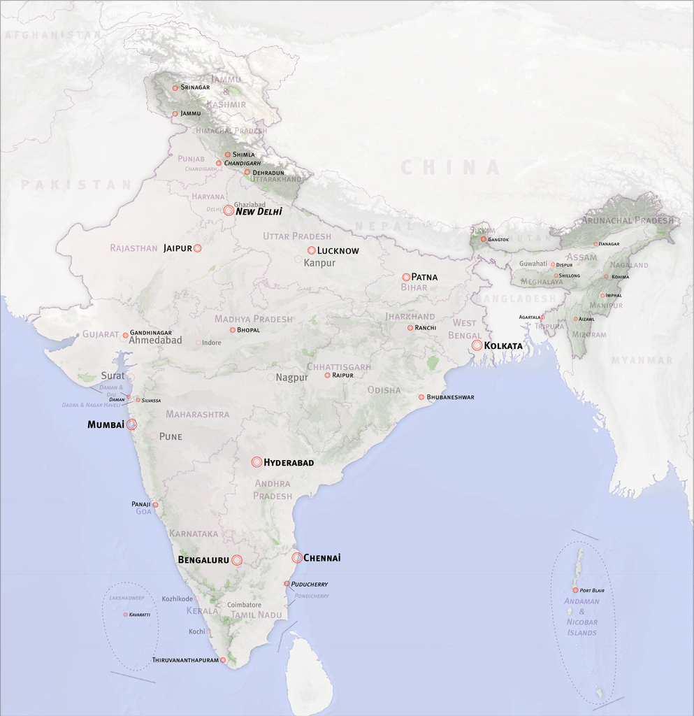 FilePolitical Map of India with terrainpng FilePolitical