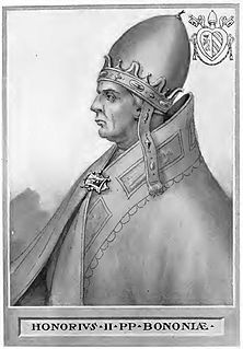 Pope Honorius II Pope from 1124 to 1130