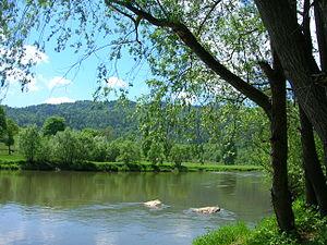 Poprad (river) - The Poprad forming the Polish-Slovak border