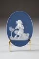 Porslinsplakett med faun, gjord på 1700-talets slut - Hallwylska museet - 93874.tif