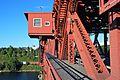 Portland Broadway Bridge operator's house and north sidewalk.jpg