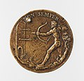 Portrait medal of Jacopo Antonio Sorra (obverse); A Nude Male Figure Shooting Arrows (reverse) MET DP-1241-006.jpg