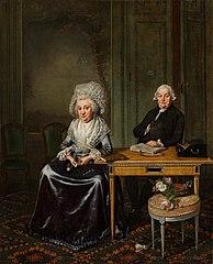 Portrait de Jacob Feitema et sa femme Elizabeth de Haan