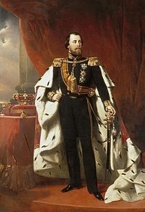 King William III of the Netherlands in coronation robes by Nicolaas Pieneman (1856)