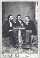 Portrait of Kubeš Brothers, at left Jan František Kubeš (mayor), in the middle Ferdinand Kubeš, at right Adolf Kubeš.jpg