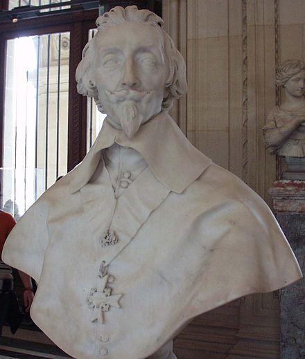 Bust of Cardinal Richelieu by Gianlorenzo Bernini Portrait of the cardinal Richelieu (1585-1642) of Bernini.JPG