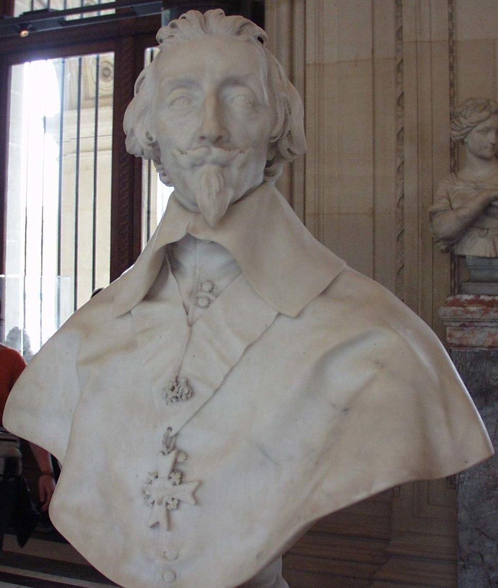 Portrait of the cardinal Richelieu (1585-1642) of Bernini