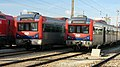 Portuguese Railways 2248 and 2273 EMUs at Entroncamento Railway Station.jpg