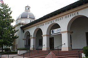 Redlands, California - Post Office, erected in the 1930s by the Works Progress Administration.