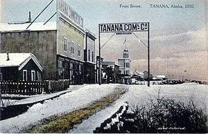 Tanana, Alaska - Postcard: Front Street, Tanana, 1910