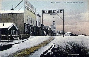 Postcard: Front Street, Tanana, 1910
