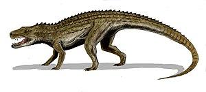 Rauisuchidae - Image: Postosuchus BW