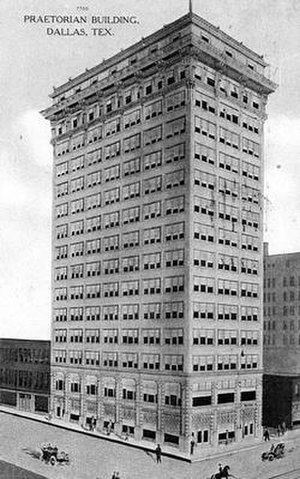 Praetorian Building - Depiction of the Praetorian Building on a 1908 postcard