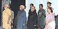 Pranab Mukherjee, the Vice President, Shri Mohd. Hamid Ansari, the Prime Minister, Shri Narendra Modi and the Speaker, Lok Sabha.jpg